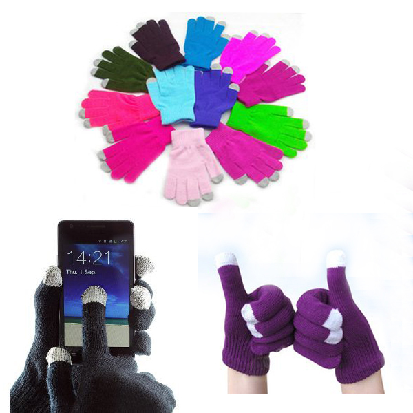 Acrylic Knitted Touchscreen Gloves