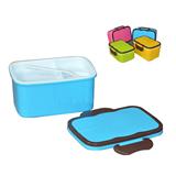 42 oz Plastic Portable Lunch Box  Container