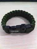 Paracord Survival Bracelet With Plastic Buckle