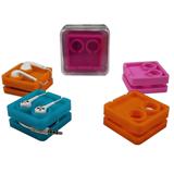 Silkscreen Silicone Earphone Storage Box & Case